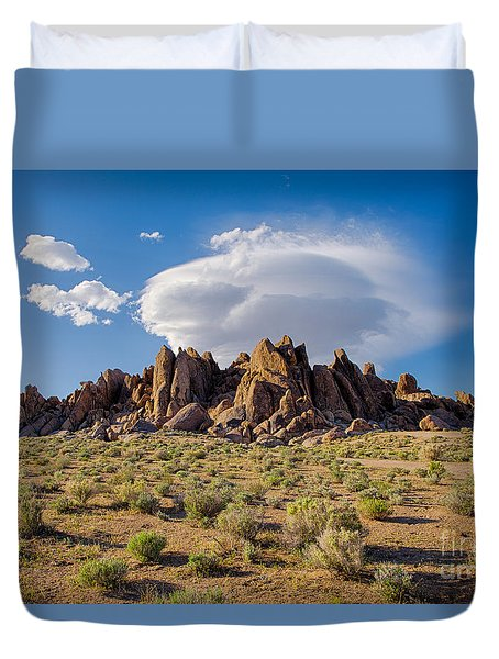 Cloud And Rocks Duvet Cover