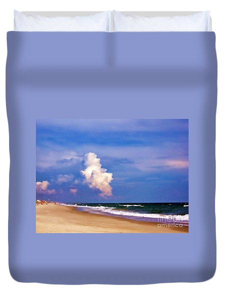 Duvet Cover featuring the photograph Cloud Approaching by Roberta Byram