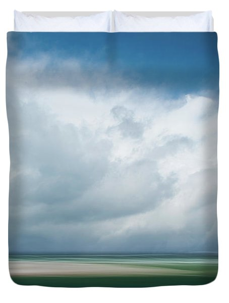 Cloud Bank Over Chatham Duvet Cover