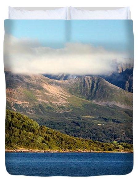 Cloud-capped Mountains Duvet Cover