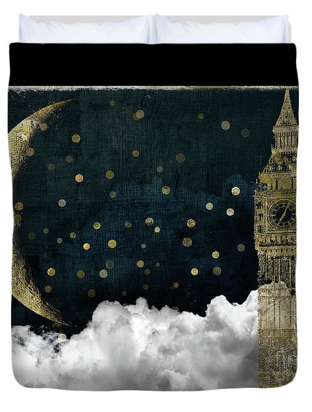 Cloud Cities London Duvet Cover by Mindy Sommers