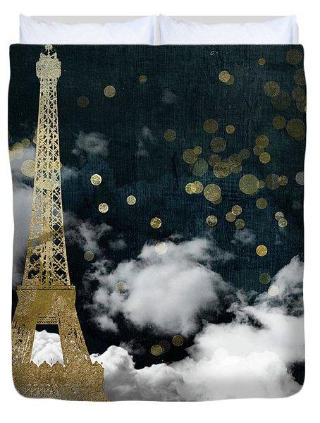 Cloud Cities Paris Duvet Cover