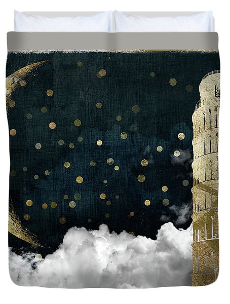 Cloud Cities Pisa Italy Duvet Cover by Mindy Sommers