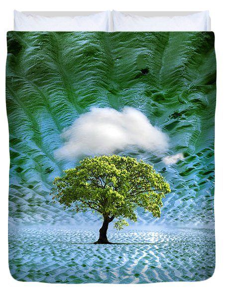 Cloud Cover Recurring Duvet Cover by Mal Bray