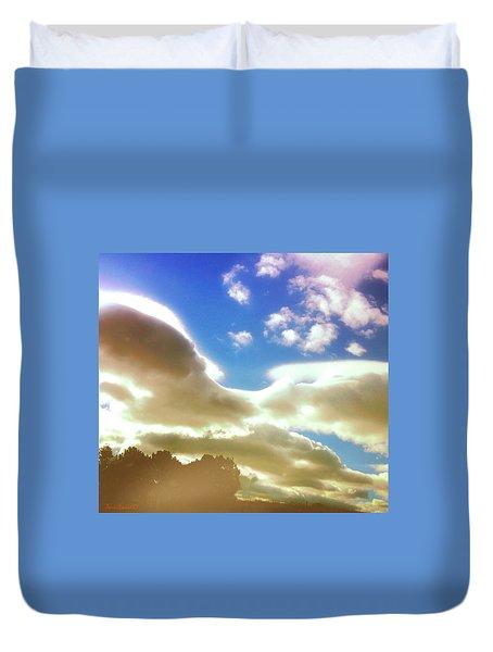 Cloud Drama Over Sangre De Cristos Duvet Cover by Anastasia Savage Ealy