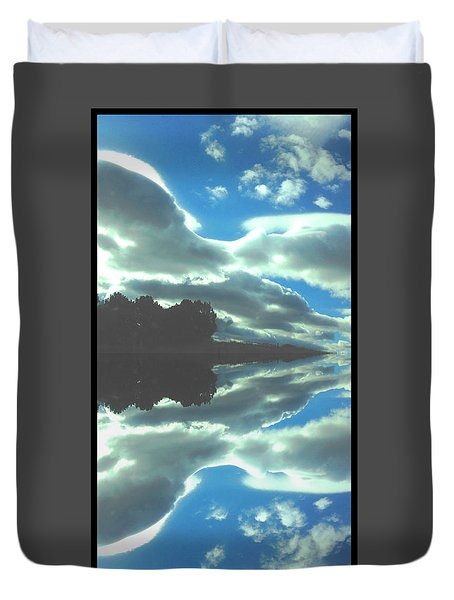 Cloud Drama Reflections Duvet Cover by Anastasia Savage Ealy