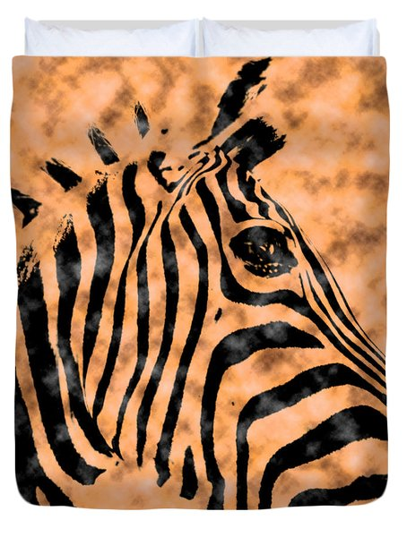 Cloud Face Zebra Duvet Cover
