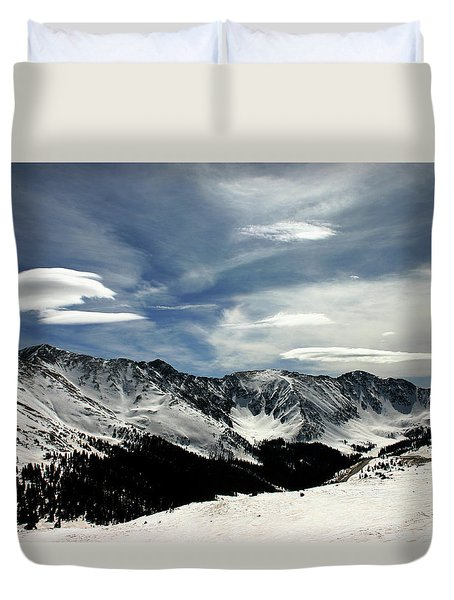 Cloud Forms Over The Continental Divide Duvet Cover