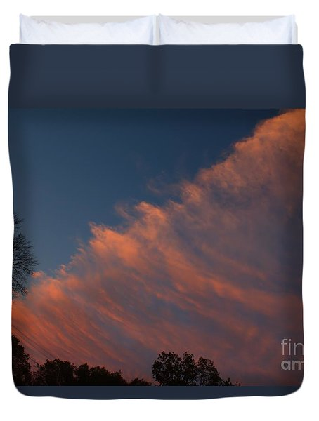 Duvet Cover featuring the photograph Cloud Front At Sunset by Kenny Glotfelty