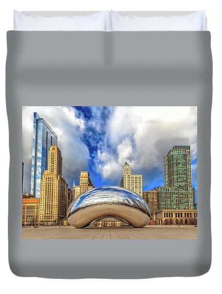 Cloud Gate @ Millenium Park Chicago Duvet Cover