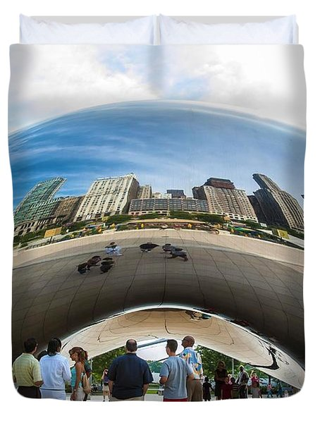 Cloud Gate Aka Chicago Bean Duvet Cover