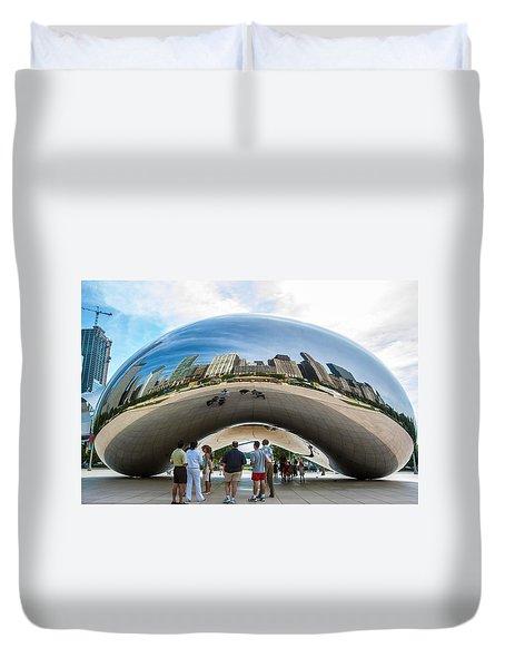 Cloud Gate Aka Chicago Bean Duvet Cover
