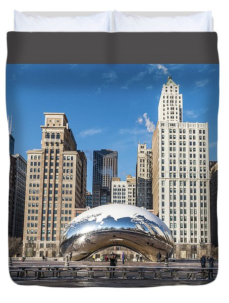 Cloud Gate To Chicago Duvet Cover