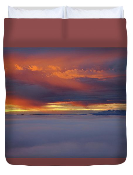 Cloud Layer Sunrise At Dead Horse Point State Park Duvet Cover