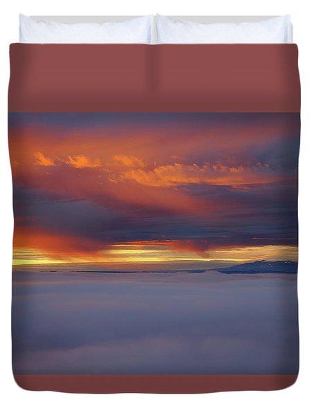 Cloud Layer Sunrise At Dead Horse Point State Park Duvet Cover