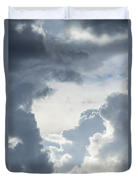 Cloud Painting Duvet Cover by Laura Pratt