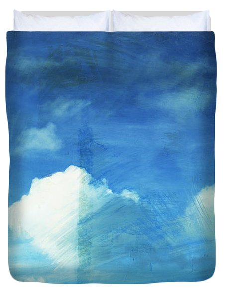Cloud Painting Duvet Cover by Setsiri Silapasuwanchai
