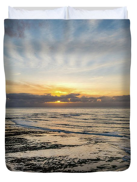 Cloud Rays Vertical Duvet Cover