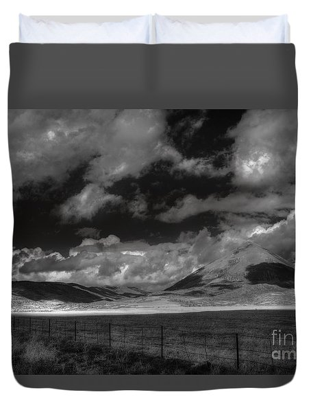 Duvet Cover featuring the photograph Cloud Shadows In The Sangres  by William Fields