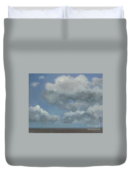 Duvet Cover featuring the painting Cloud Study #3 by Jennifer Boswell