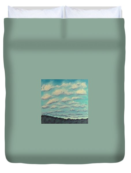 Cloud Study Cropped Image Duvet Cover