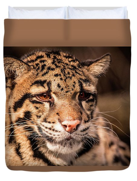 Clouded Leopard II Duvet Cover