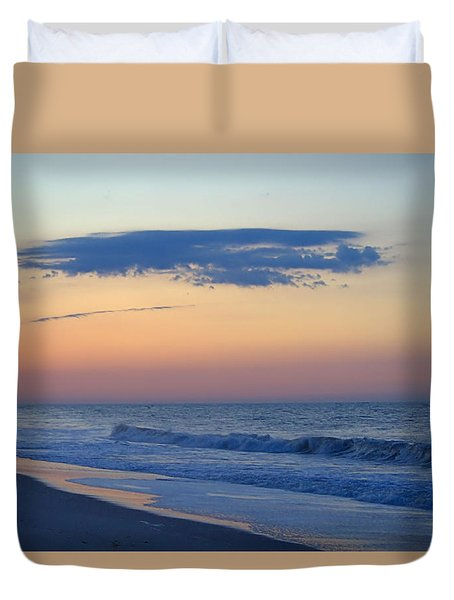 Duvet Cover featuring the photograph Clouded Pre Sunrise by  Newwwman