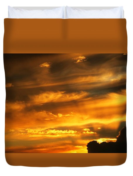 Clouded Sunset Duvet Cover by Kyle West