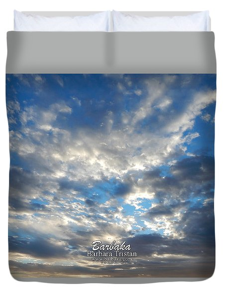 Clouds #4049 Duvet Cover by Barbara Tristan