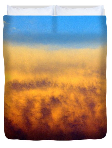 Clouds Ablaze Duvet Cover by Marty Koch