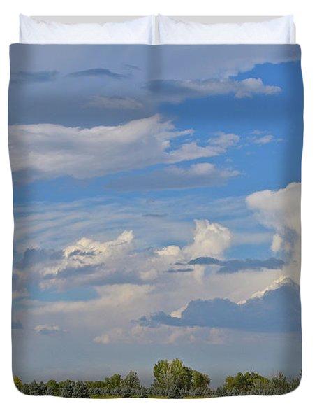 Clouds Aboive The Tree Farm Duvet Cover