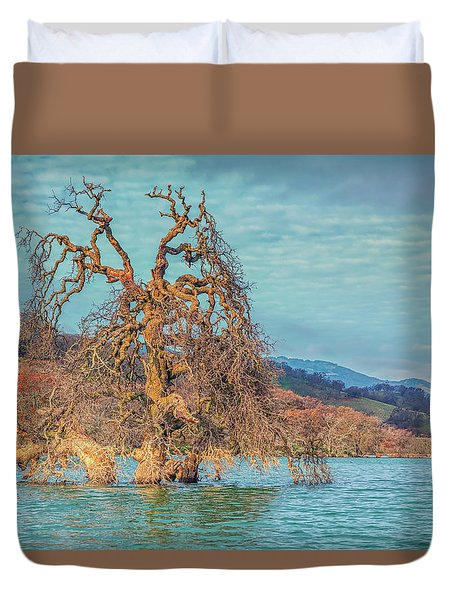 Clouds Above Flooded Tree Duvet Cover