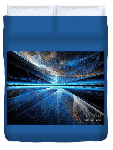 Duvet Cover featuring the digital art Clouds Above by Michal Dunaj