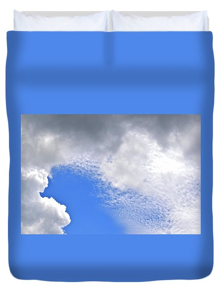 Clouds And Blue Skies Duvet Cover