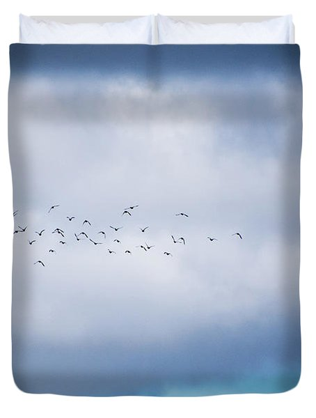 Clouds And Ducks Duvet Cover