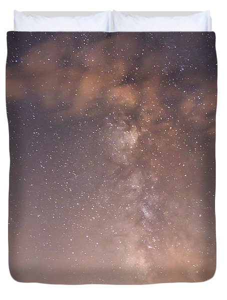 Clouds And Milky Way Duvet Cover