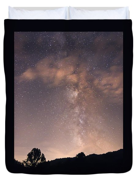 Clouds And Milky Way Duvet Cover by Wanda Krack