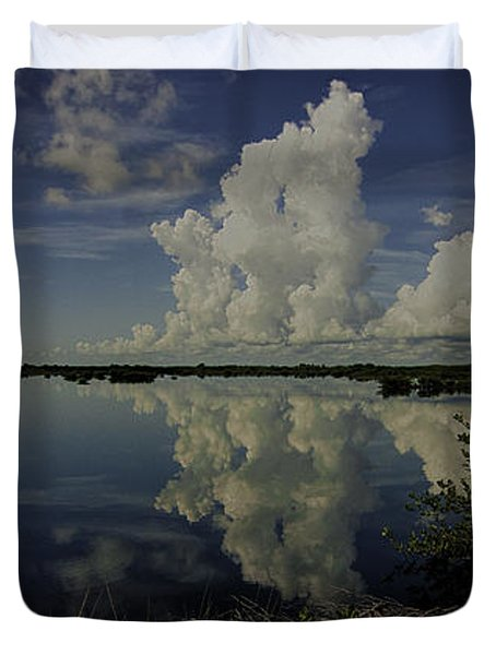 Clouds And Reflections Duvet Cover