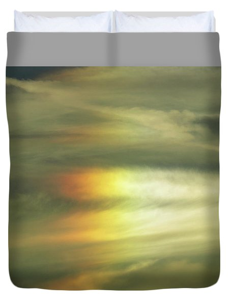 Clouds And Sun Duvet Cover