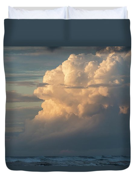 Clouds And Surf Duvet Cover