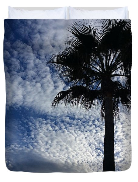 Clouds And Tree  Duvet Cover