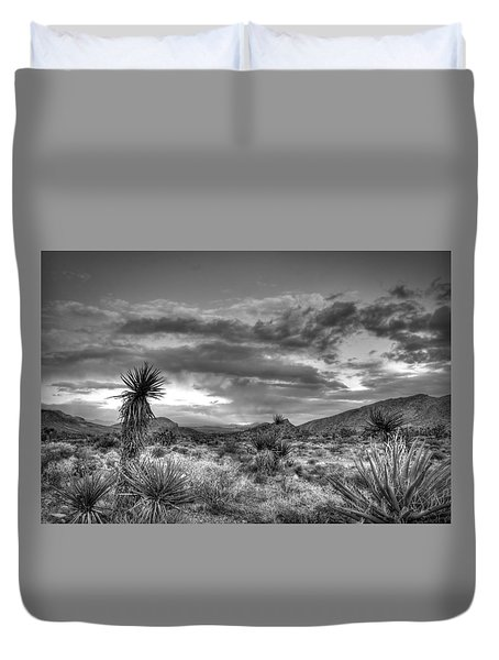 Clouds And Yucca Duvet Cover