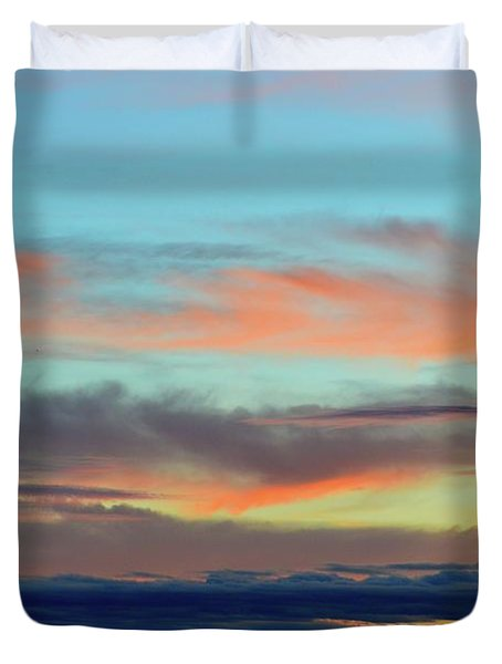 Clouds At Different Altitudes  Duvet Cover