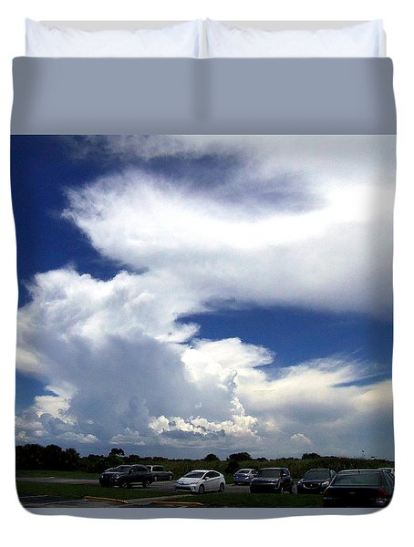 Duvet Cover featuring the photograph Clouds At Honeymoon Island  by Chris Mercer