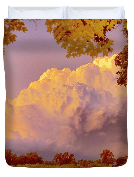 Clouds At Sunset, Southeastern Pennsylvania Duvet Cover