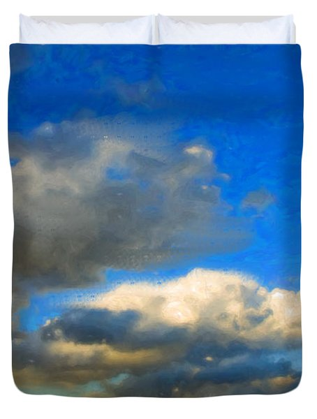 Clouds Duvet Cover by Betty LaRue