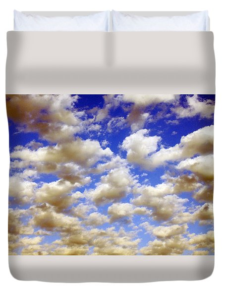 Clouds Blue Sky Duvet Cover by Jana Russon