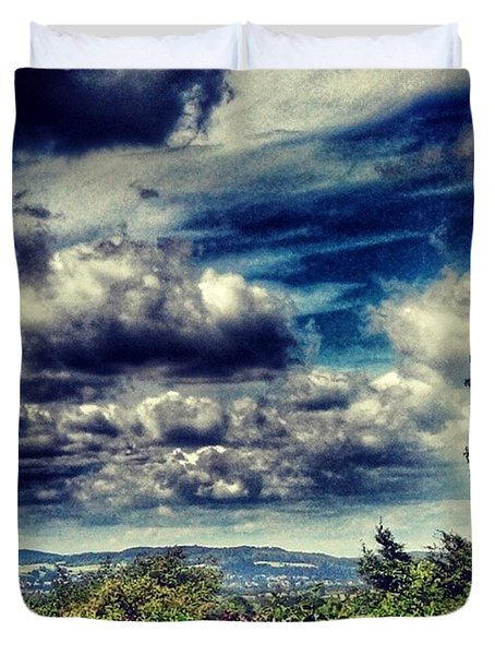 #clouds #cloud #cloudporn #tagsforlikes Duvet Cover