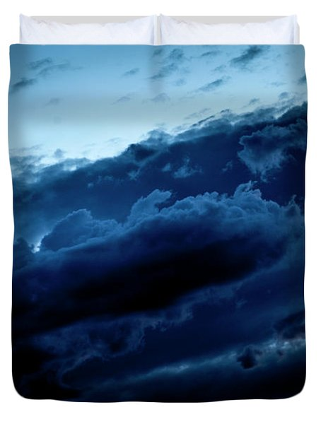 Duvet Cover featuring the photograph Clouds Fall by Eric Christopher Jackson