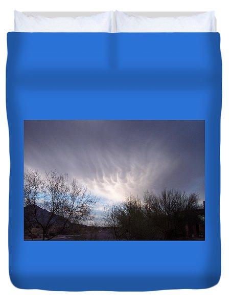 Clouds In Desert Duvet Cover